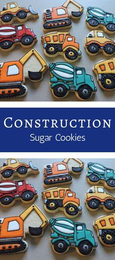 Construction Truck Cookies Construction Truck 57 New Ideas Cute Cookies, Cupcake Cookies, Sugar Cookies, Sugar Dough, Food Truck Festival, Truck Cakes, Food Truck Design, Monster Truck Birthday, Cookie Designs