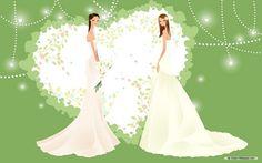 Wallpaper of Animated Wedding for fans of Weddings. Animated Wedding
