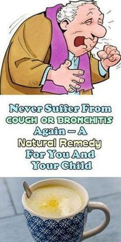 Never Suffer From Cough Or Bronchitis Again – A Natural Remedy For You And Your Child! The period of the year has started when bacterial and viral infections are flourishing thus making us more susceptible to cough and bronchitis. This is causing … Read Cough Remedies, Holistic Remedies, Natural Health Remedies, Natural Cures, Herbal Remedies, Natural Bronchitis Remedies, Natural Treatments, Holistic Healing, Home Remedies For Laryngitis