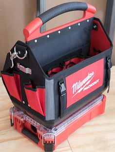 Milwaukee Packout Small Organizer with Medium Tool Bag Connected