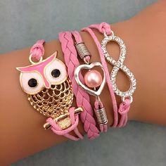 LIEBLINGSMENSCH Unendlichkeits Armband Modell: Eule - Herz - Infinity.  Dieser außergewöhnliche Armschmuck besticht durch sein liebevolles Design und gute Verarbeitung.   #Armband #Lieblingsmensch #Geschenk #Mann #Frau #Familie #Liebe #Partner #Beziehung #Schmuck