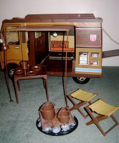 Big Jim Sports Camper with Dining Set. $60,00, via Etsy.