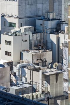 tokyostreetphoto: Rooftop Jungle I Ginza 銀座 Photography Building Photography, Urban Photography, Street Photography, City Landscape, Urban Landscape, Tokyo Streets, 8bit Art, Cyberpunk City, Perspective Photography