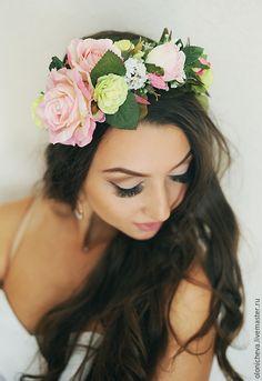Купить веночки на голову из цветов