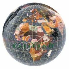$84.99 TheBlack Opalite Gemstone Globe 4-inch Paperweight is a great choice for a decorative paperweight globe. Manufactured with some of the best quality semi-precious gemstones you will not be disappointed by the layout and presentation of this design. #desktopglobes #floorglobes #oldworldglobes #education #geography #teaching #vintage #toys #gemstoneglobes #paperweightglobes