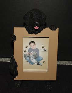 Newfoundland Dog Picture Frame Holder