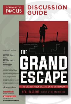Discussion questions and extension activities to pair with The Grand Escape: The Greatest Prison Breakout of the Century by Neal Bascomb! Reading Resources, Teacher Resources, Classroom Tools, Prisoners Of War, World History, Nonfiction, True Stories, Homeschool, Student