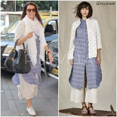 Celebrity Style,neha dhupia,Grassroot by Anita Dongre