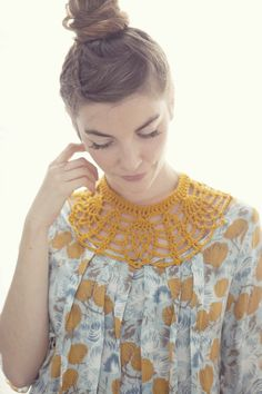 Crochet Collar - 5 Fillet (40%OFF). $38.00, via Etsy.