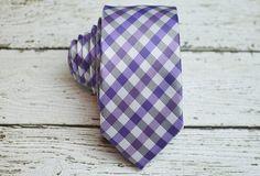 Purple gingham tie