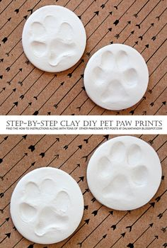 DIY Dog (or Cat) Clay Paw Prints - Simple step-by-step how-to instructions with photos + finishing tips.