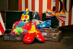 Carnival Prop Ideas | Photo props at a Circus Party #circus #partyphotos