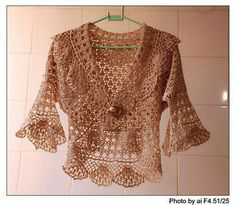 beautiful lace bolero, free crochet patterns in its pages, you'll find fabulous crochet patterns and helpful articles that support its. lace bolero is beautiful Gilet Crochet, Crochet Jacket, Crochet Cardigan, Crochet Baby, Knit Crochet, Lace Sweater, Crochet Sweaters, Lace Jacket, Bolero Jacket