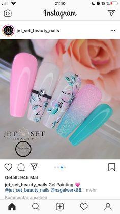 Edgy Nail Art, Edgy Nails, Cute Nail Art, Stylish Nails, Cute Nails, Jet Set, Coffin Nails Long, Nail Designs Spring, Birthday Nails