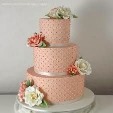 mint and peach wedding cake - Google Search