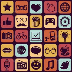 Hipster Icons and Signs