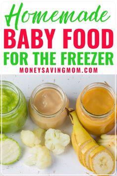 Guest Post by Erin from $5 Dinners A fantastic way to save money when you've got a little one crawling under foot is to prepare your own baby food. The average price at my grocery store for a 1-serving jar of baby food, stage 1, is $0.51. From my rough calculations, you can save an average of 75% by spending a few minu Easy Freezer Meals, Freezer Cooking, Frugal Meals, Freezer Recipes, Cooking Tips, Sweet Potatoes For Baby, Sweet Potato Skins, Toddler Meals, Toddler Food