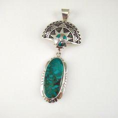 Royston Turquoise Shalako Pendant  by Sam Gray, Navajo
