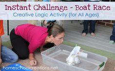 Boat Race Instant Challenge ~ Logic for Kids ~ Build a boat and make it seaworthy End Of Year Activities, Team Building Activities, Stem Activities, Educational Activities, Building For Kids, Boat Building, Teaching Science, Science For Kids, Science Ideas