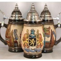 Zoeller & Born Rustic Belgium Relief German Beer Stein 0.25 Liter $85.99