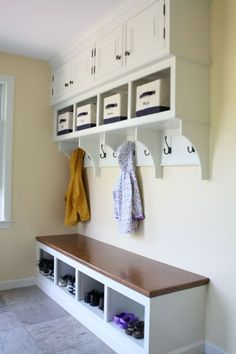So this us what I envision in the space where Dan pulled out our old coat closet. So perfect!