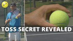Tennis Serve Tip: Toss Secret Revealed Tennis Serve, Tennis Tips, Heath And Fitness, Secrets Revealed, Sport Football, Tossed, Outdoor Travel, Extreme Sports, Drills