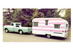 Pink caravan...