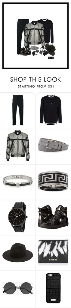 """""""Technical Crushed Bomber Jacket"""" by farhanoid on Polyvore featuring Comme des Garçons Homme, Y-3, Wooyoungmi, Burberry, Belk & Co., Rip Curl, Philipp Plein, Études, Diesel and Ace"""