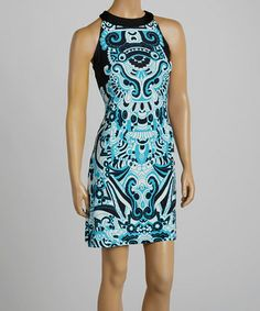 Abstract yoke style dress available in a medium for $30.