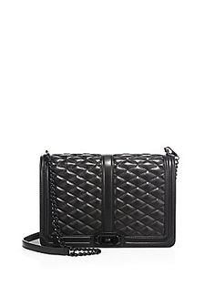 Rebecca Minkoff Love Jumbo Quilted Leather Crossbody Bag - Black