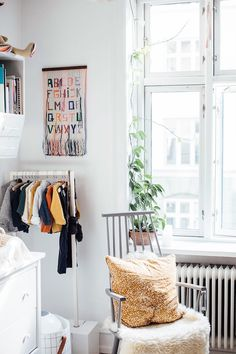 my scandinavian home: A charming small children's room / nursery in an apartment full of vintage finds