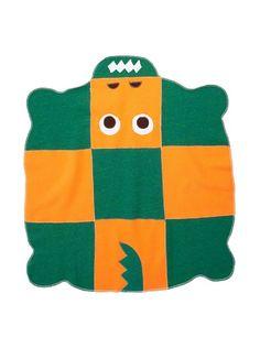 Cate & Levi Croc Baby Blanket, Green/Orange at MYHABIT