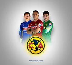 Porteros del Club America Moises Muñoz Hugo Gonzalez Luis Donaldo Pineda