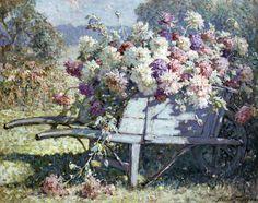 """Abbott Fuller Graves (1859-1936), """"Summer Flowers"""""""