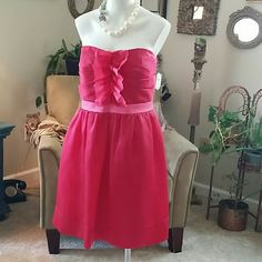 NWT PHOEBE PINK SLEEVELESS DRESS New with tags.  Fully lined, cups sewn inside. Phoebe Dresses Strapless
