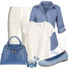 Chambray Blue, created by myfavoritethings-mimi on Polyvore