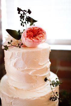 Rustic pink cake
