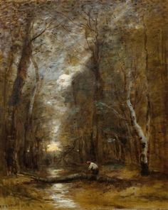 View Sous bois By Jean Baptiste Camille Corot; Oil on canvas; 55 x 45 cm; Access more artwork lots and estimated & realized auction prices on MutualArt. Cool Landscapes, Landscape Paintings, Paris, Italian Paintings, Jean Baptiste, Sketch Painting, Old Master, French Art, Portrait