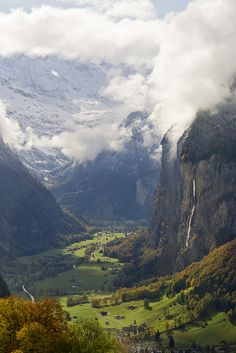 Switzerland - Rock Falls by jaetography, via Flickr