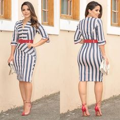 La imagen puede contener: 2 personas, personas de pie y rayas Girl Fashion, Fashion Outfits, Womens Fashion, Trendy Outfits, Cute Outfits, Casual Night Out, Business Casual Attire, Dress Clothes For Women, Looks Chic