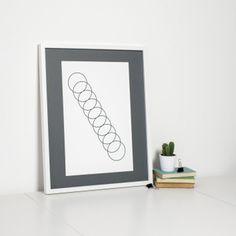 Geometric Art Print Minimalist Circle Design by Sweet Oxen www.sweetoxen.co.uk