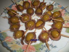 Aceitunas bombón liaditas con anchoas