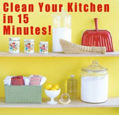 """I've been doing it and it really really works- even with kids- just don't ask about how much stuff is in the basket of """"things that don't belong in the kitchen"""" but hey my kitchen is clean!! :)"""