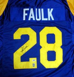 afa3f4695 Marshall Faulk Autographed St. Louis Rams Blue Jersey PSA DNA .  149.00.  This