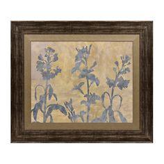 Blue Floral Silhouette Framed Art Print | Kirklands