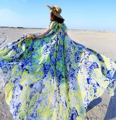 2016 Fashion Summer Long Maxi Dress Women's Casual Flower Beach Dress Plus Size Loose Mopping The Floor