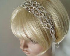 Wedding Headband Rhinestone Head band Bridal Hair Piece headpiece accessory hairpiece headbands