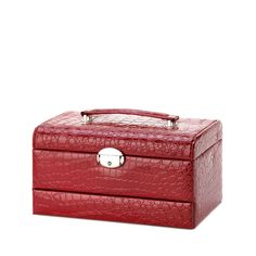 Red Large Jewelry Case by Rustica House. #myRustica