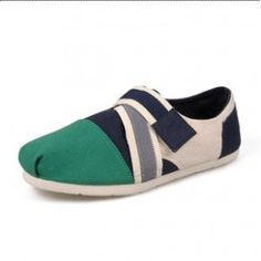 Toms Blue Green Velcro Canvas Women's Classic in Toms Shoes Outlet Store