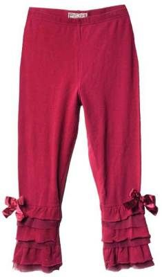 Pantaloons ~ Ruffled leggings coquettishly peek from beneath skirts, and long sweaters. Black, Cabernet or Ivory.